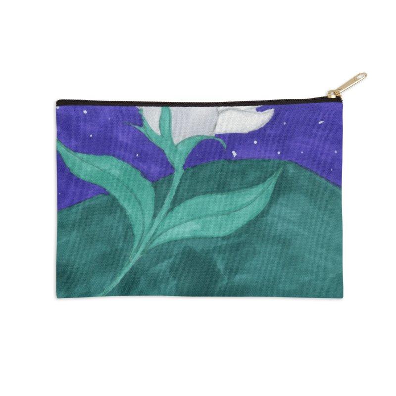 Enchanted Moon Flower Accessories Zip Pouch by THGStarDragon's Artist Shop