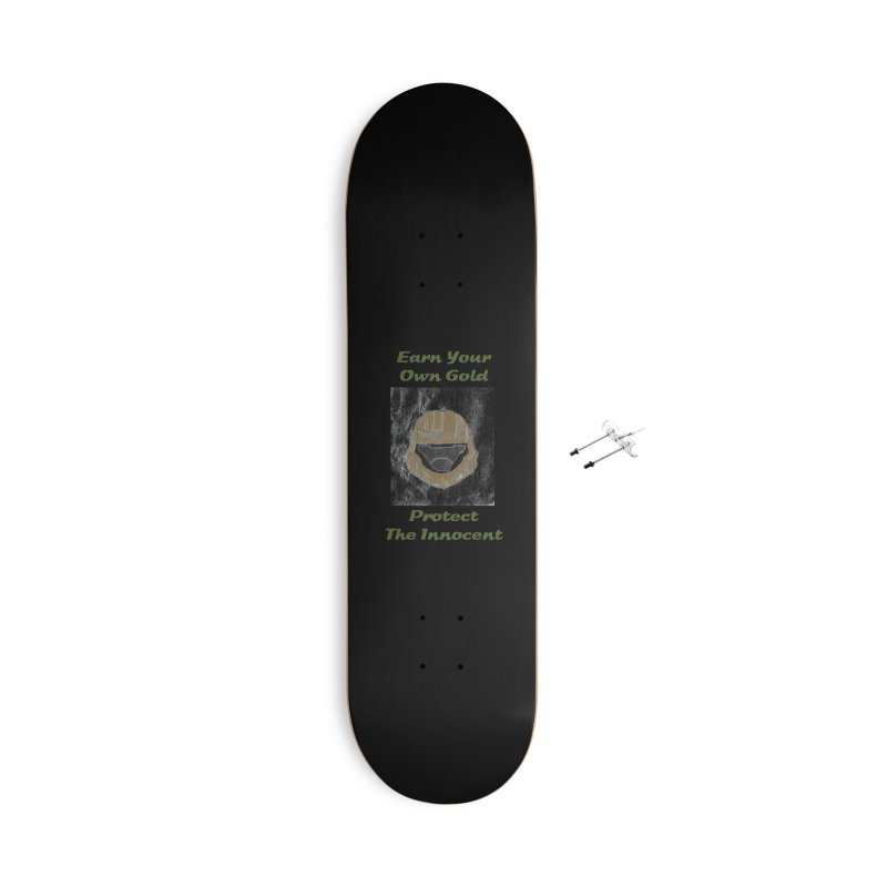Earn Your Own Gold Accessories Skateboard by THGStarDragon's Artist Shop