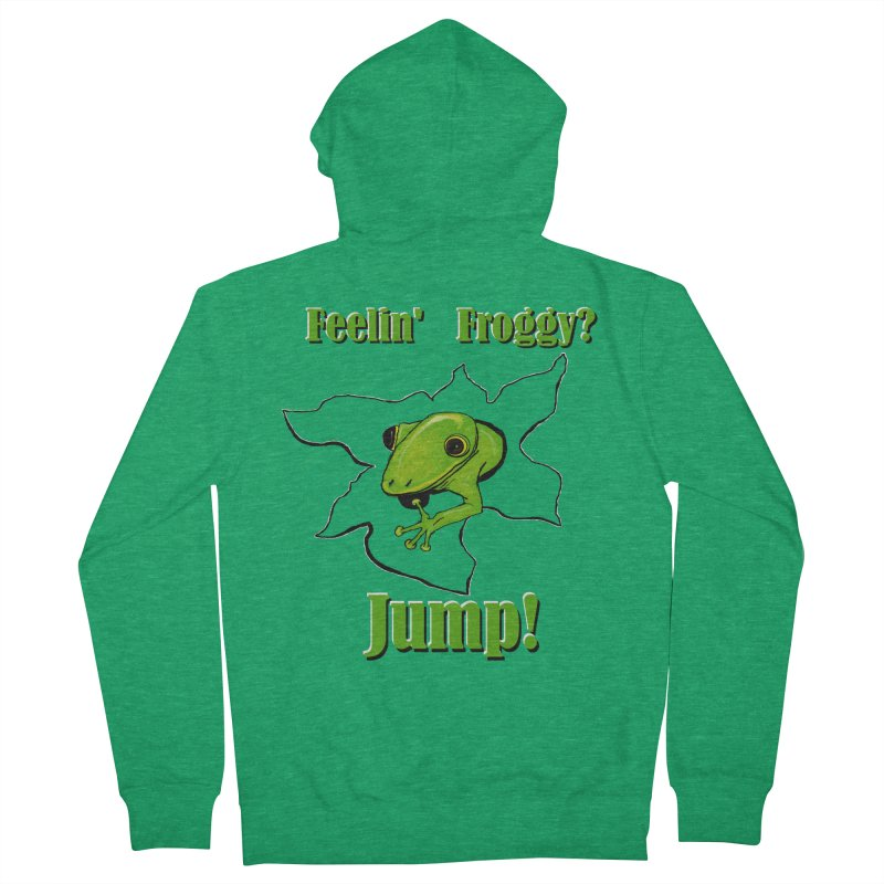 Feelin' Froggy Men's Zip-Up Hoody by TKK's Artist Shop
