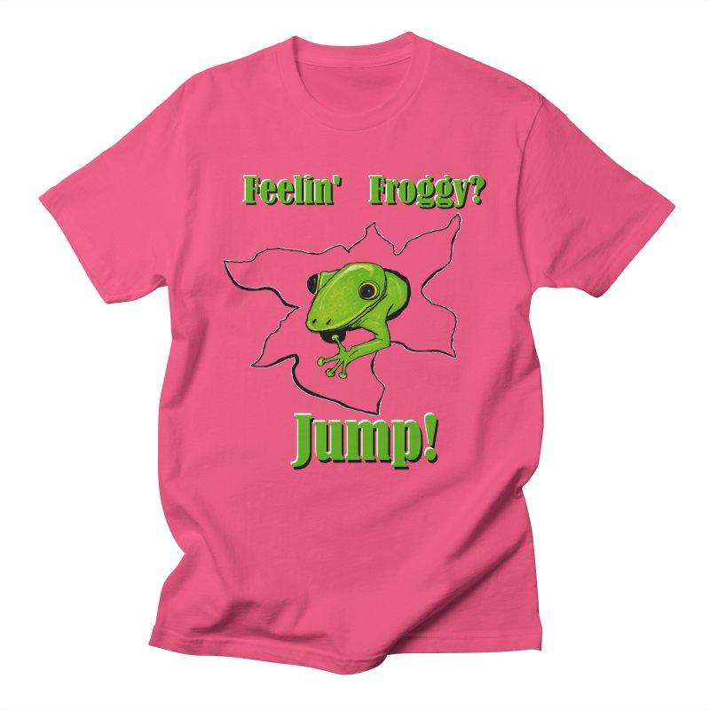 Feelin' Froggy Men's Regular T-Shirt by TKK's Artist Shop