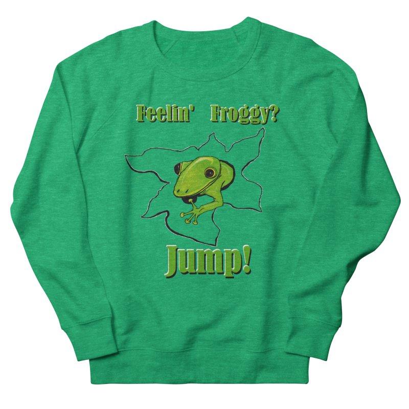 Feelin' Froggy Women's Sweatshirt by TKK's Artist Shop