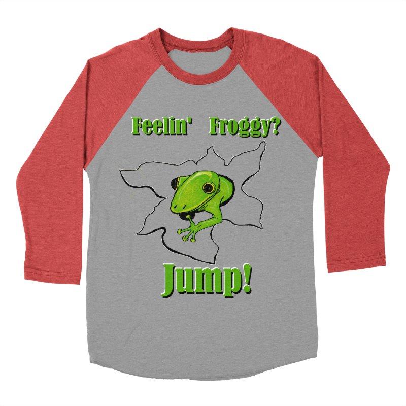 Feelin' Froggy Men's Baseball Triblend Longsleeve T-Shirt by TKK's Artist Shop