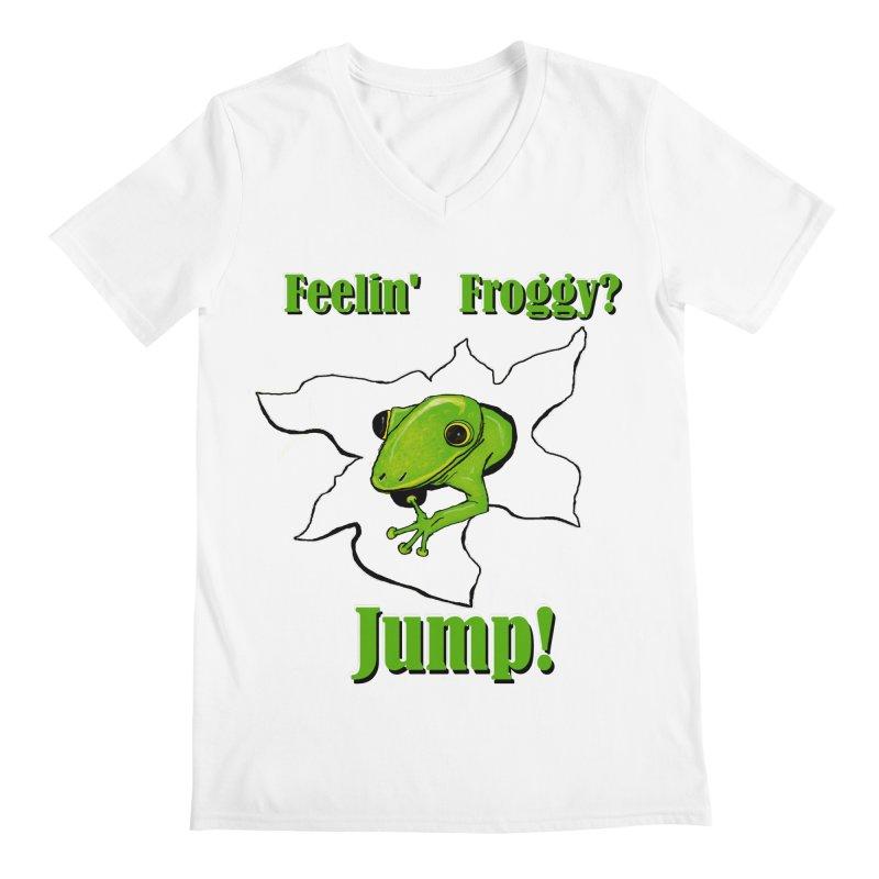 Feelin' Froggy Men's V-Neck by TKK's Artist Shop