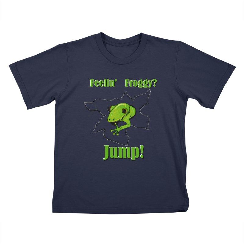 Feelin' Froggy Kids T-Shirt by TKK's Artist Shop