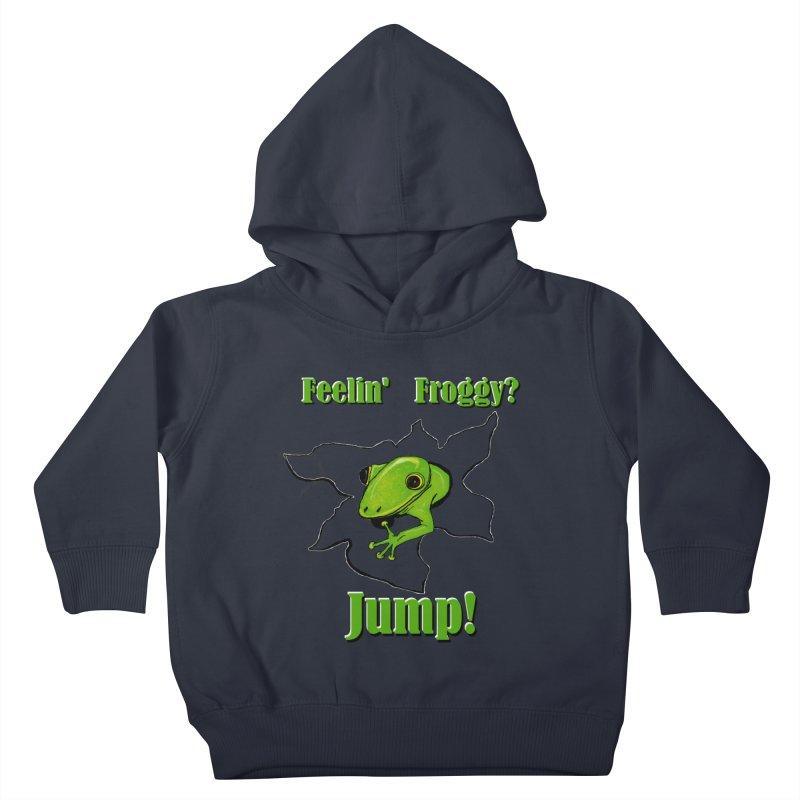 Feelin' Froggy Kids Toddler Pullover Hoody by TKK's Artist Shop