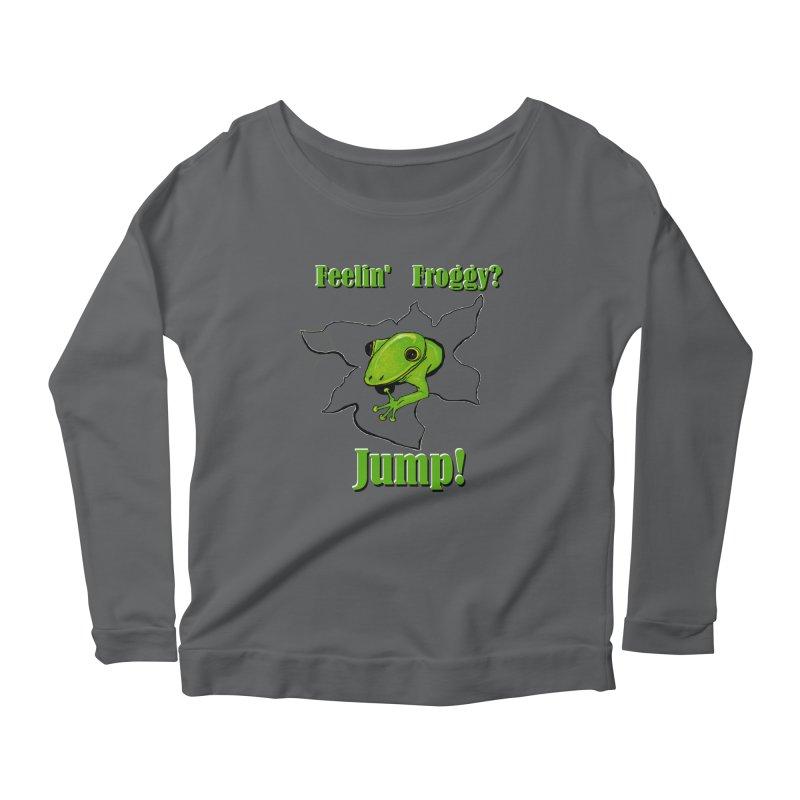 Feelin' Froggy Women's Longsleeve T-Shirt by TKK's Artist Shop