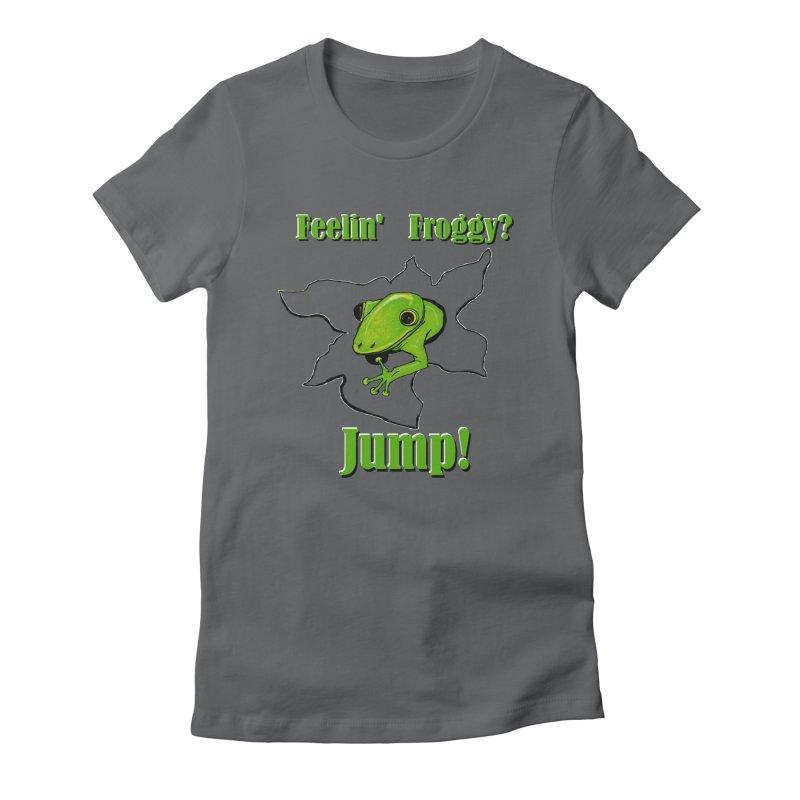 Feelin' Froggy Women's T-Shirt by TKK's Artist Shop