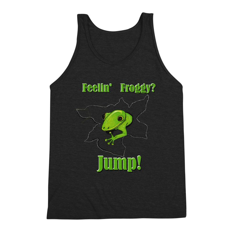 Feelin' Froggy Men's Triblend Tank by TKK's Artist Shop