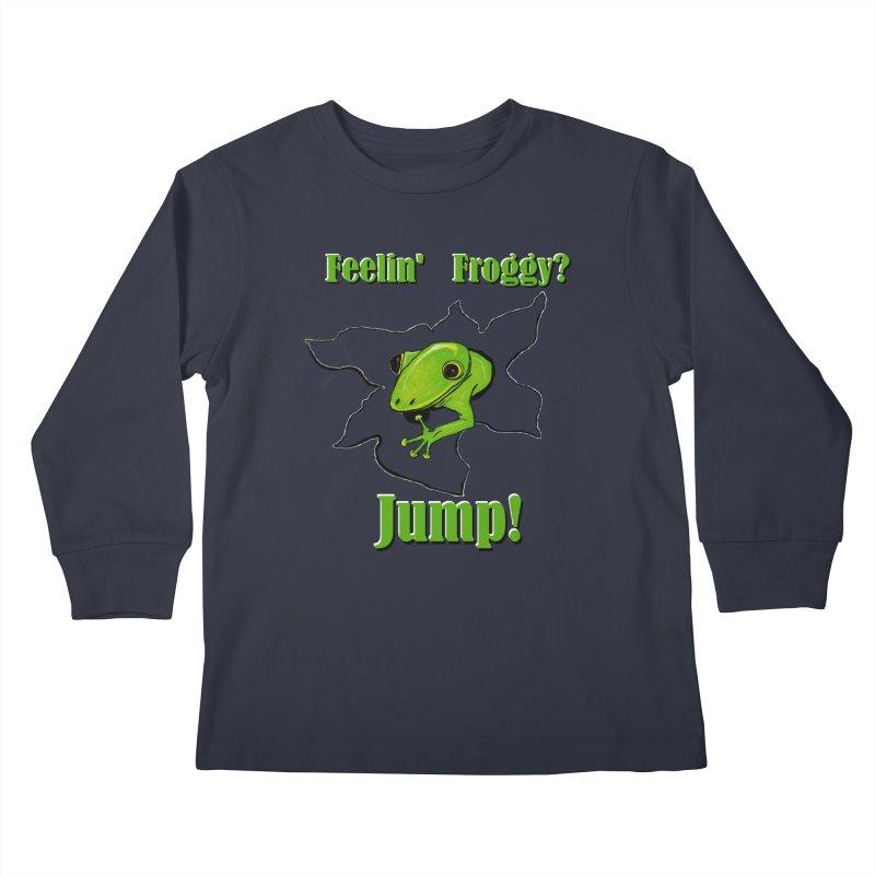 Feelin' Froggy Kids Longsleeve T-Shirt by TKK's Artist Shop