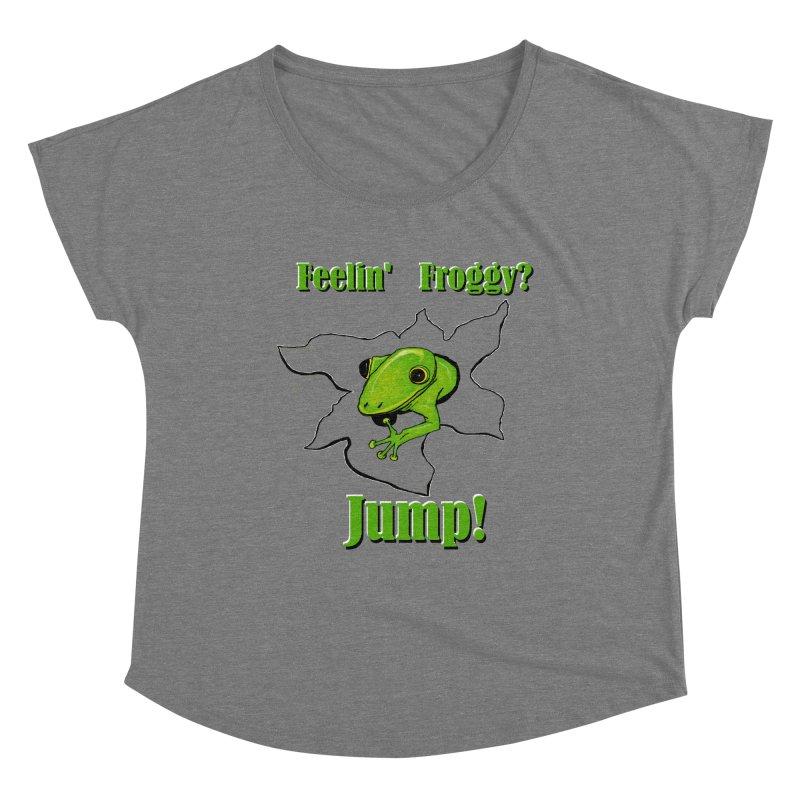 Feelin' Froggy Women's Scoop Neck by TKK's Artist Shop