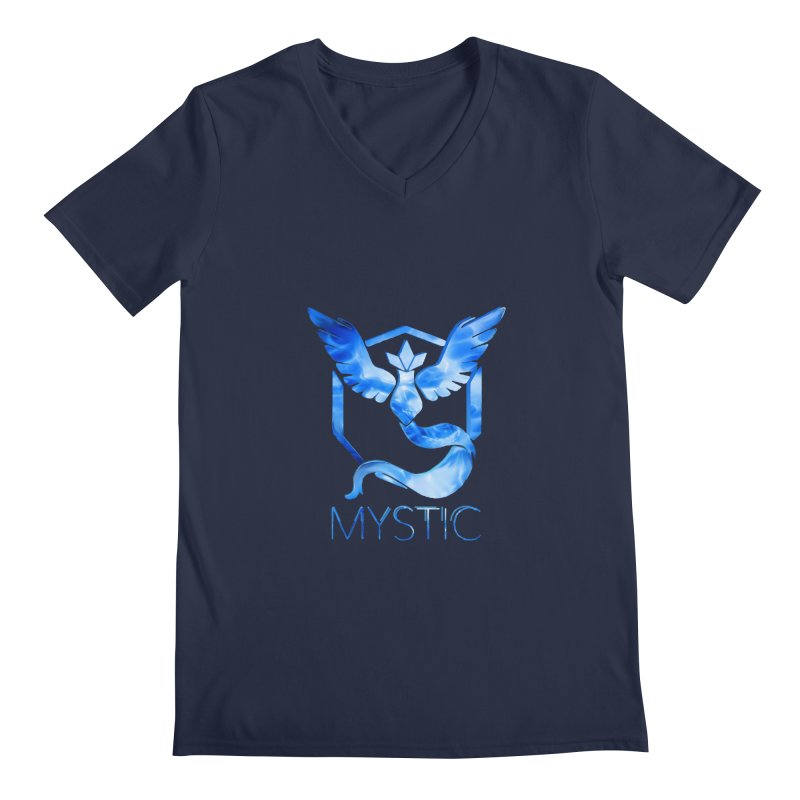 Pokémon Go Team Mystic Men's Regular V-Neck by TKK's Artist Shop