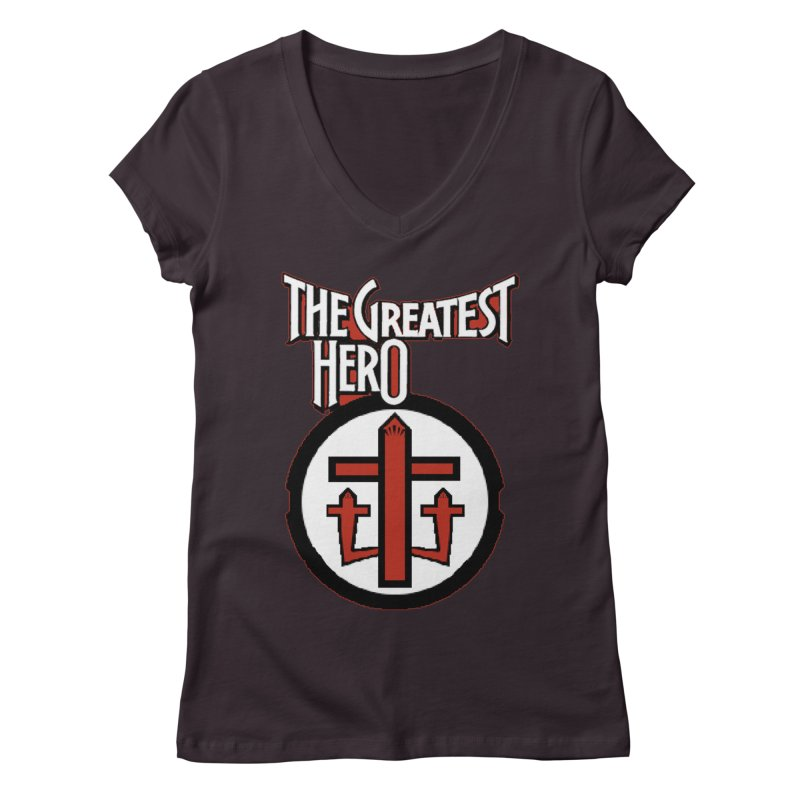 The Greatest Hero Women's V-Neck by TKK's Artist Shop
