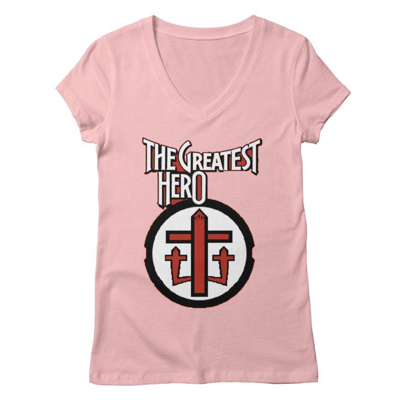 The Greatest Hero Women's V-Neck by TKK's Artist Shop