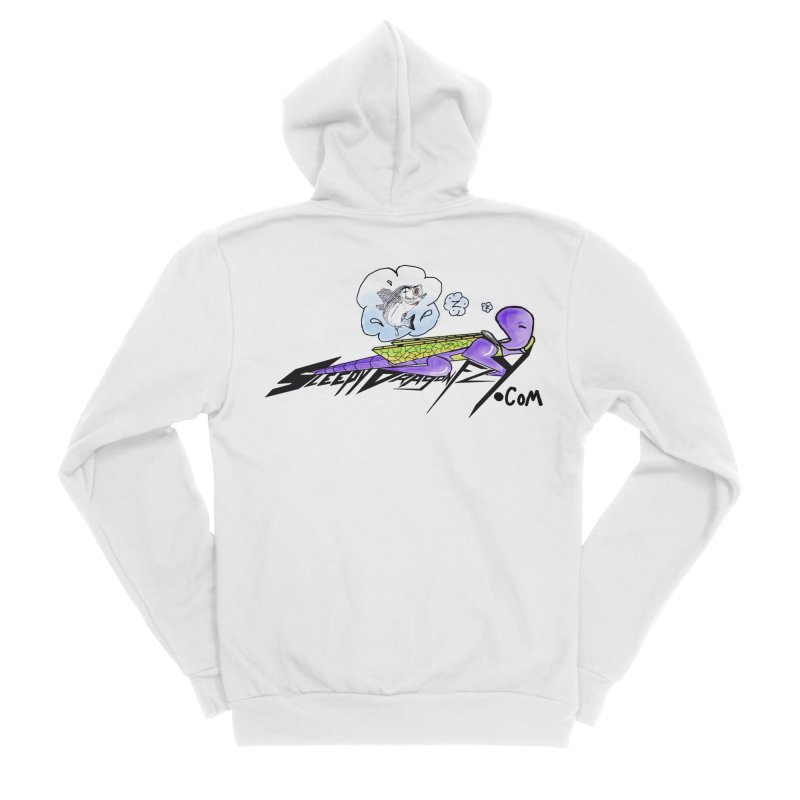Sleepy Dragonfly's Fishing Adventures Logo with Fat Larry Men's Zip-Up Hoody by TKK's Artist Shop