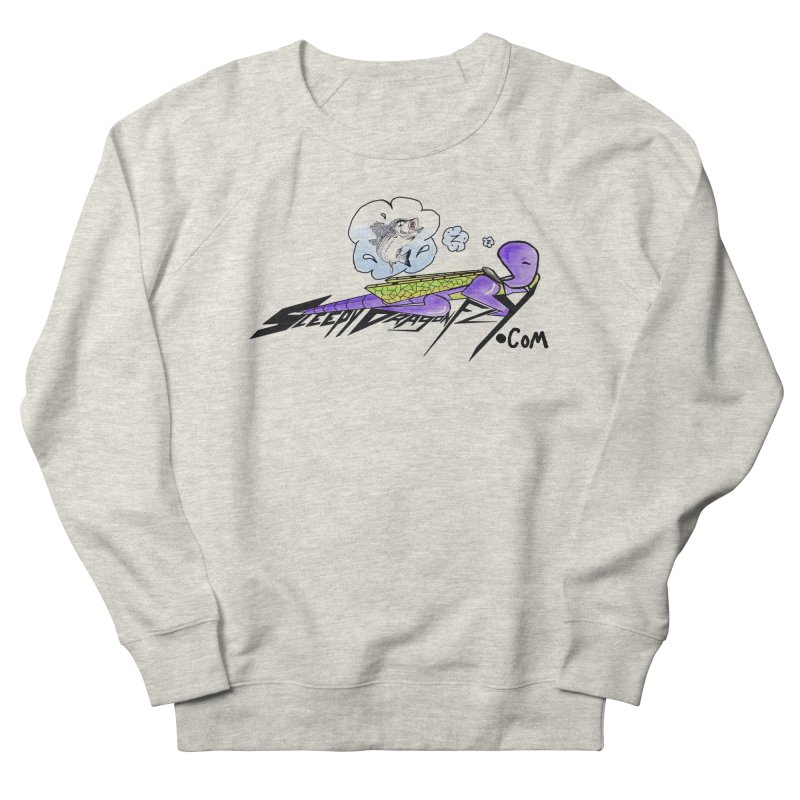 Sleepy Dragonfly's Fishing Adventures Logo with Fat Larry Men's French Terry Sweatshirt by TKK's Artist Shop