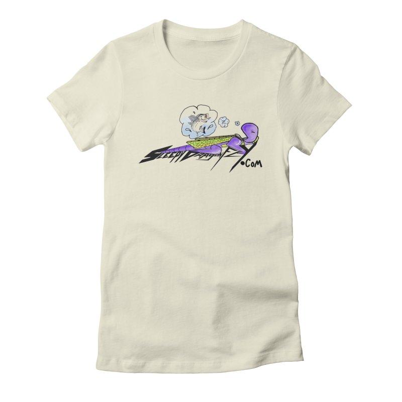 Sleepy Dragonfly's Fishing Adventures Logo with Fat Larry Women's T-Shirt by TKK's Artist Shop