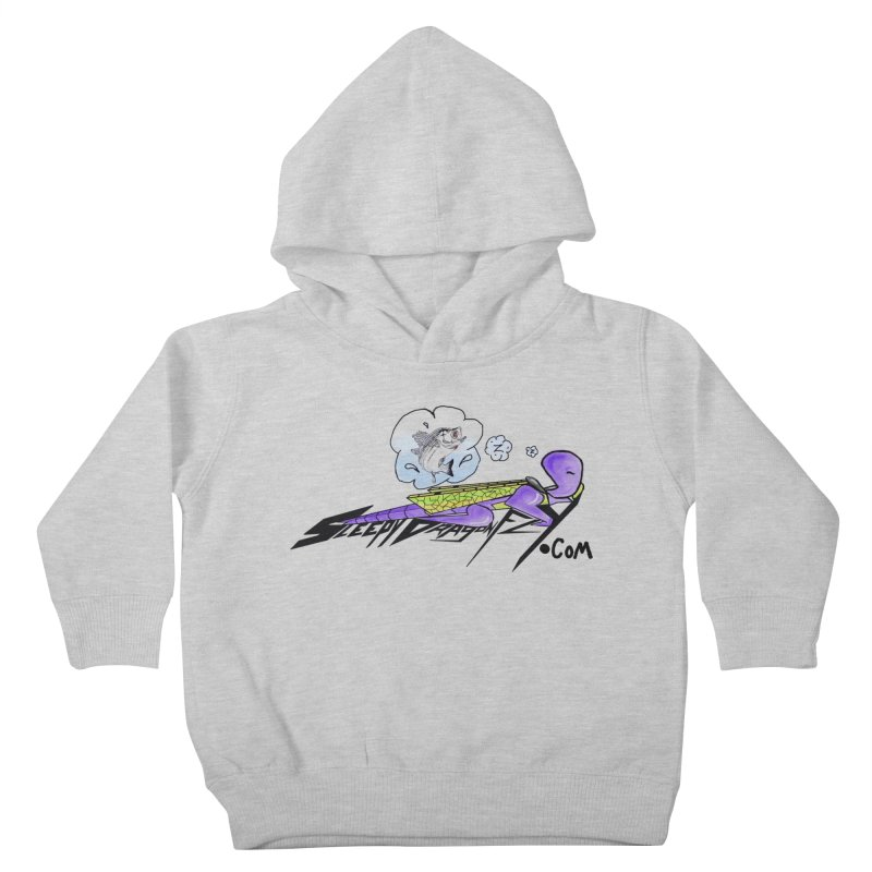 Sleepy Dragonfly's Fishing Adventures Logo with Fat Larry Kids Toddler Pullover Hoody by TKK's Artist Shop