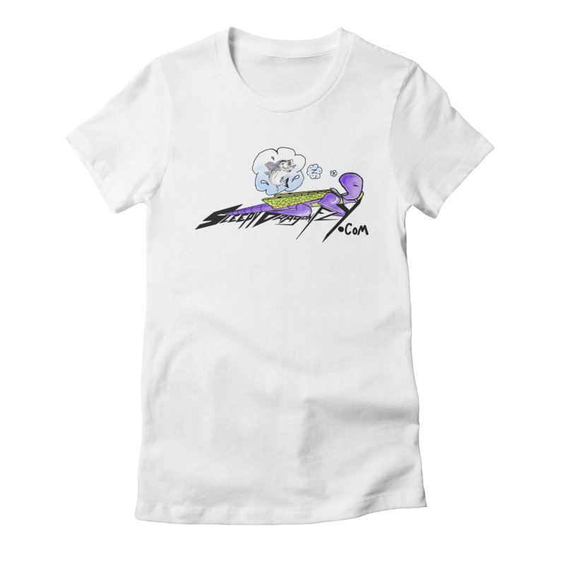 Sleepy Dragonfly's Fishing Adventures Logo with Fat Larry Women's T-Shirt by TKK's Artist Shop
