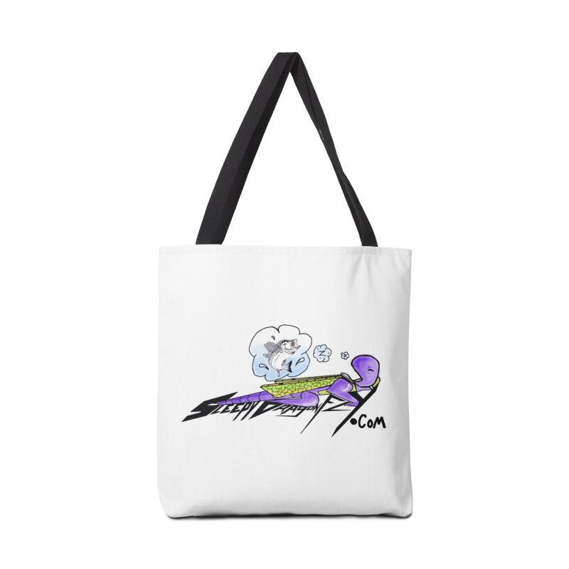 Sleepy Dragonfly's Fishing Adventures Logo with Fat Larry Accessories Bag by TKK's Artist Shop