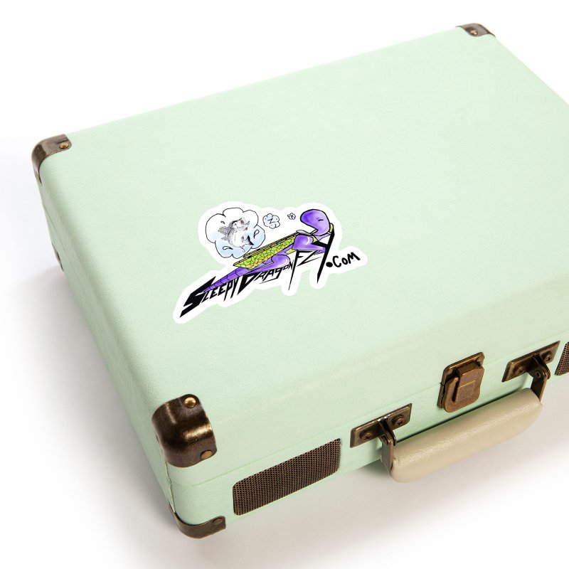 Sleepy Dragonfly's Fishing Adventures Logo with Fat Larry Accessories Sticker by TKK's Artist Shop