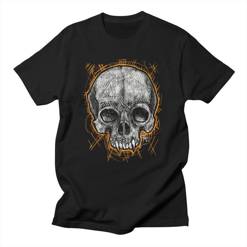 Halloween Vampire Skull Men's T-Shirt by TM's Artist Shop