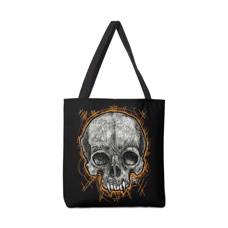 Halloween Vampire Skull Accessories Bag by TM's Artist Shop