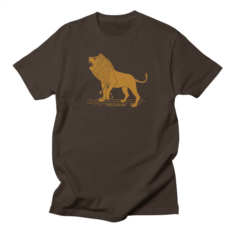 WOUNDED LION LOGO Men's T-Shirt by TODD SARVIES BAND APPAREL