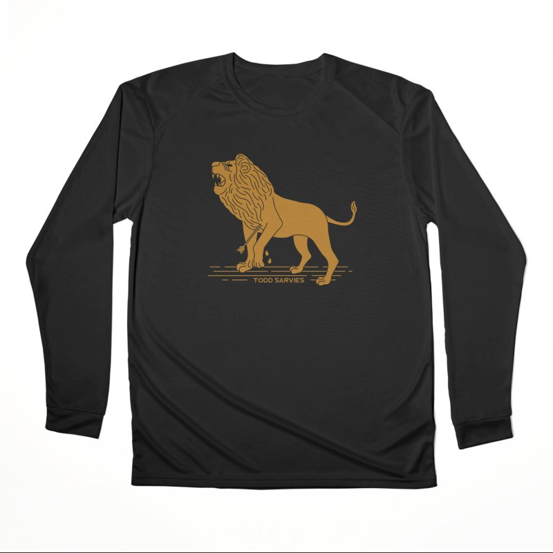 WOUNDED LION LOGO Men's Longsleeve T-Shirt by TODD SARVIES BAND APPAREL
