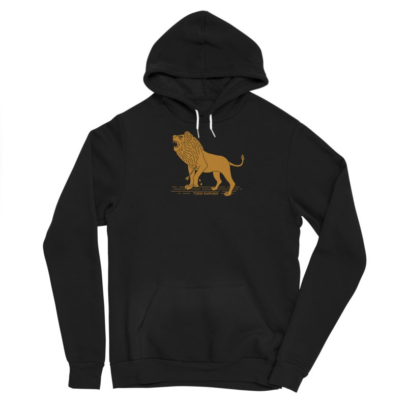 WOUNDED LION LOGO Men's Pullover Hoody by TODD SARVIES BAND APPAREL