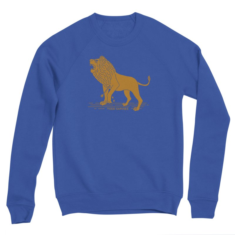 WOUNDED LION LOGO Men's Sweatshirt by TODD SARVIES BAND APPAREL