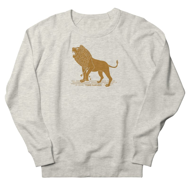 WOUNDED LION LOGO Women's Sweatshirt by TODD SARVIES BAND APPAREL