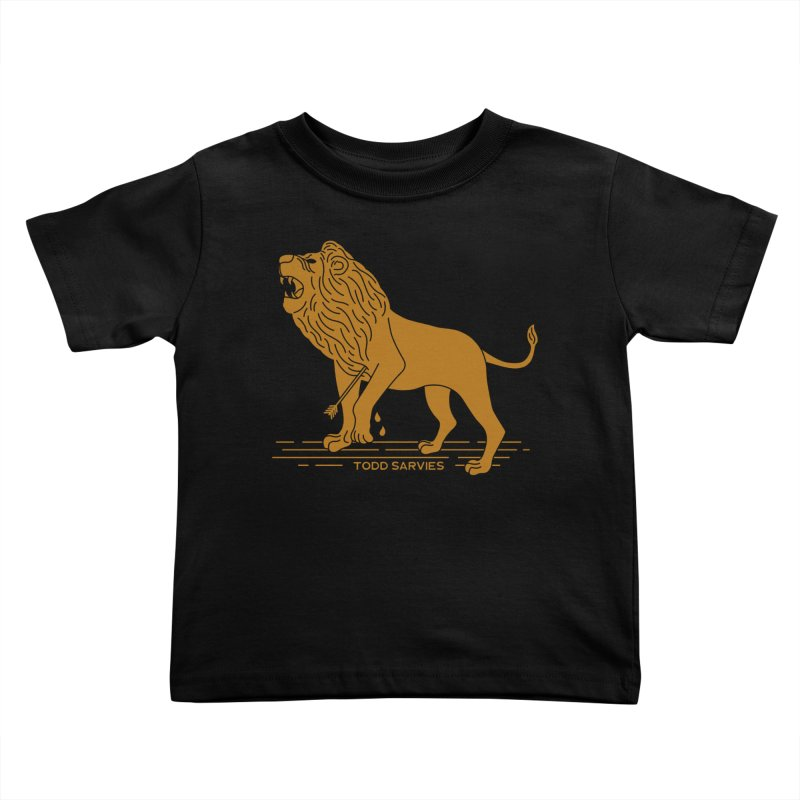 WOUNDED LION LOGO Kids Toddler T-Shirt by TODD SARVIES BAND APPAREL
