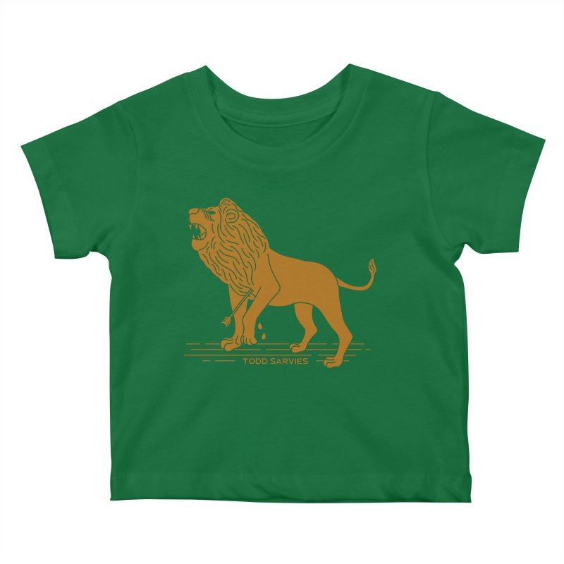 WOUNDED LION LOGO Kids Baby T-Shirt by TODD SARVIES BAND APPAREL