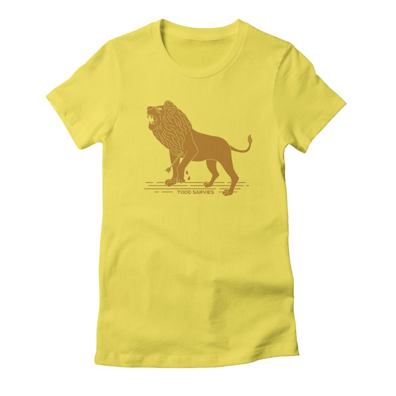 WOUNDED LION LOGO Women's T-Shirt by TODD SARVIES BAND APPAREL