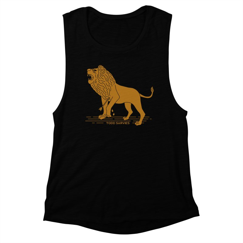 WOUNDED LION LOGO Women's Tank by TODD SARVIES BAND APPAREL