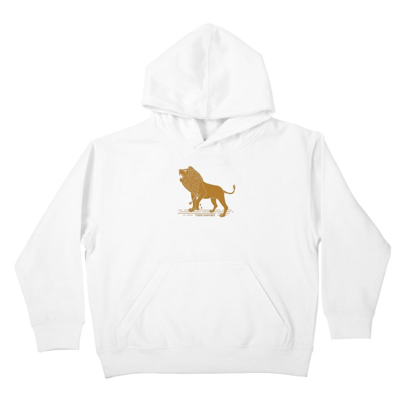 WOUNDED LION LOGO Kids Pullover Hoody by TODD SARVIES BAND APPAREL