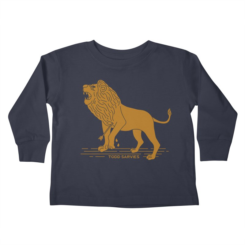 WOUNDED LION LOGO Kids Toddler Longsleeve T-Shirt by TODD SARVIES BAND APPAREL