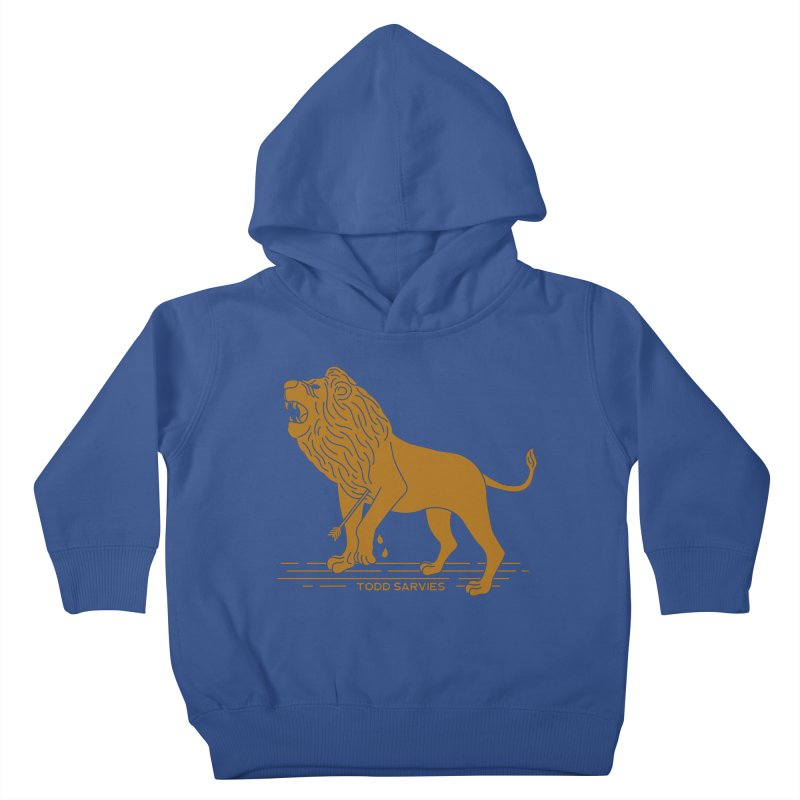 WOUNDED LION LOGO Kids Toddler Pullover Hoody by TODD SARVIES BAND APPAREL