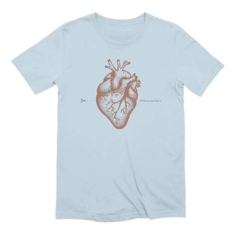FLATLINE HEART Men's T-Shirt by TODD SARVIES BAND APPAREL