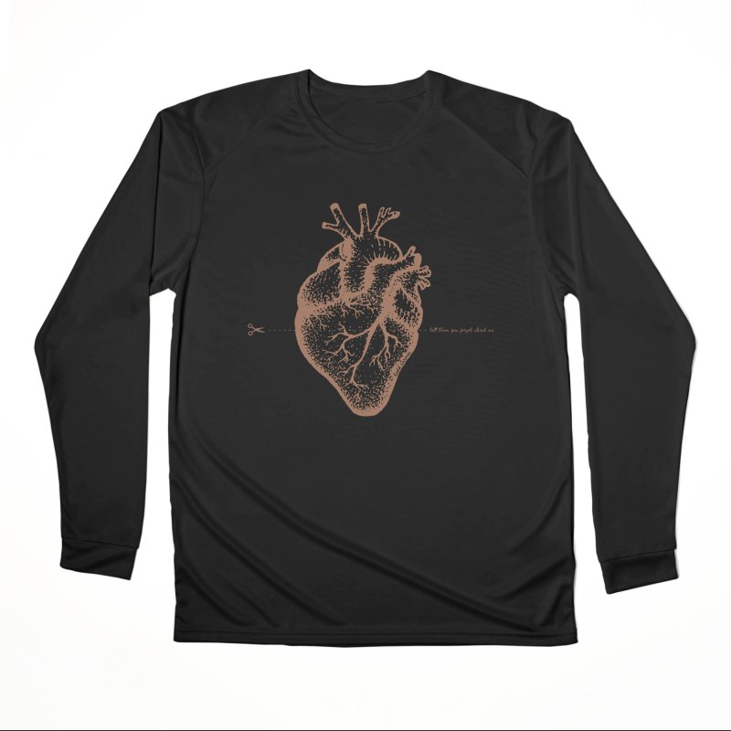 FLATLINE HEART Women's Longsleeve T-Shirt by TODD SARVIES BAND APPAREL