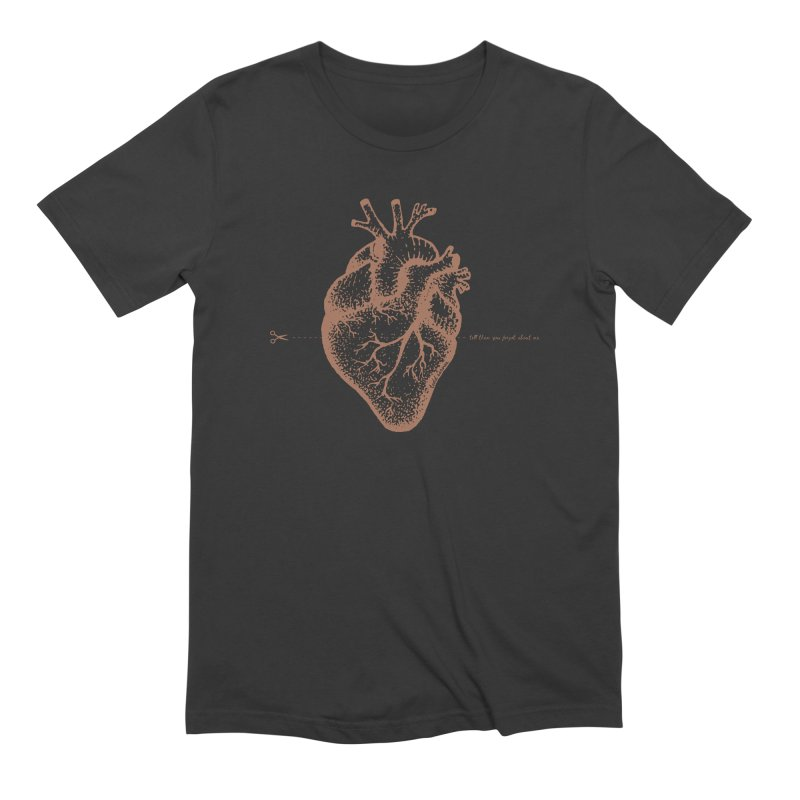 FLATLINE HEART Men's T-Shirt by TODD SARVIES BAND APPAREL