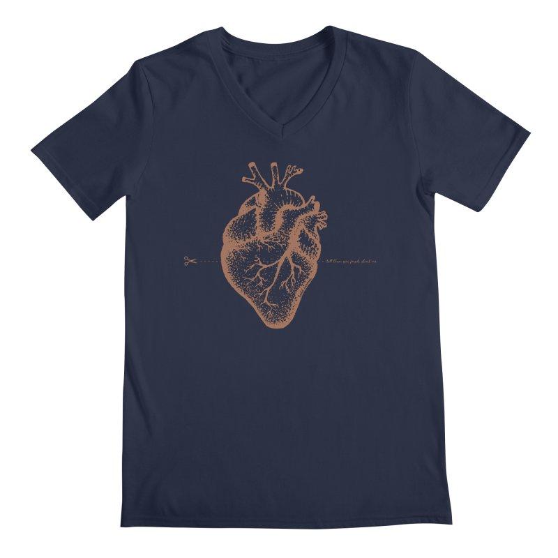 FLATLINE HEART Men's V-Neck by TODD SARVIES BAND APPAREL