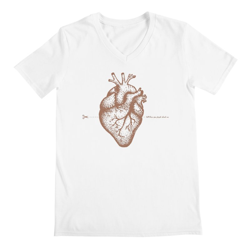 FLATLINE HEART Men's V-Neck by TODD SARVIES BAND APPAREL