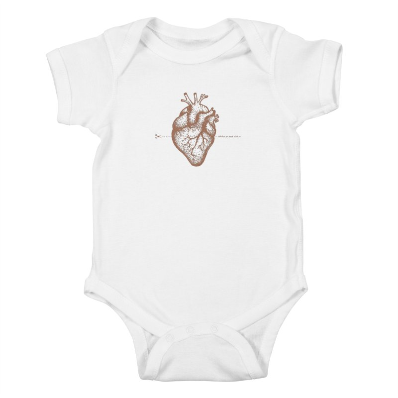 FLATLINE HEART Kids Baby Bodysuit by TODD SARVIES BAND APPAREL