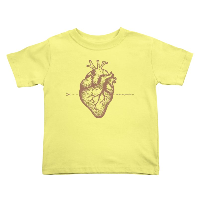 FLATLINE HEART Kids Toddler T-Shirt by TODD SARVIES BAND APPAREL