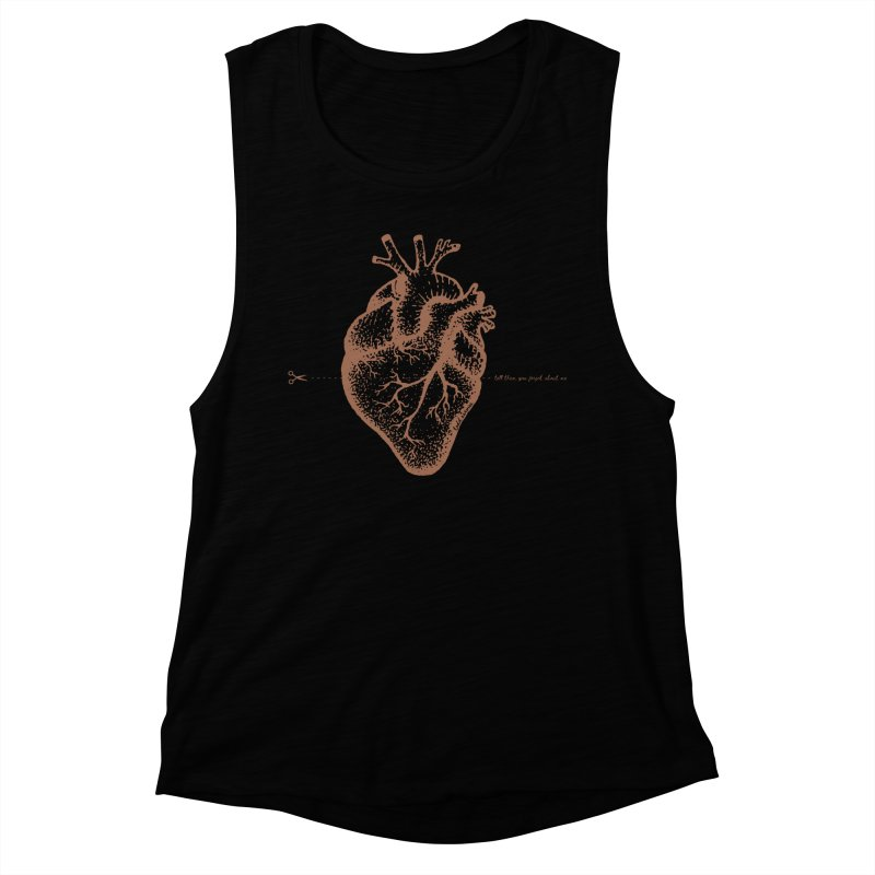 FLATLINE HEART Women's Tank by TODD SARVIES BAND APPAREL