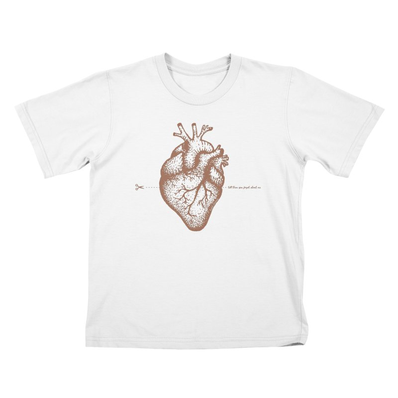 FLATLINE HEART Kids T-Shirt by TODD SARVIES BAND APPAREL