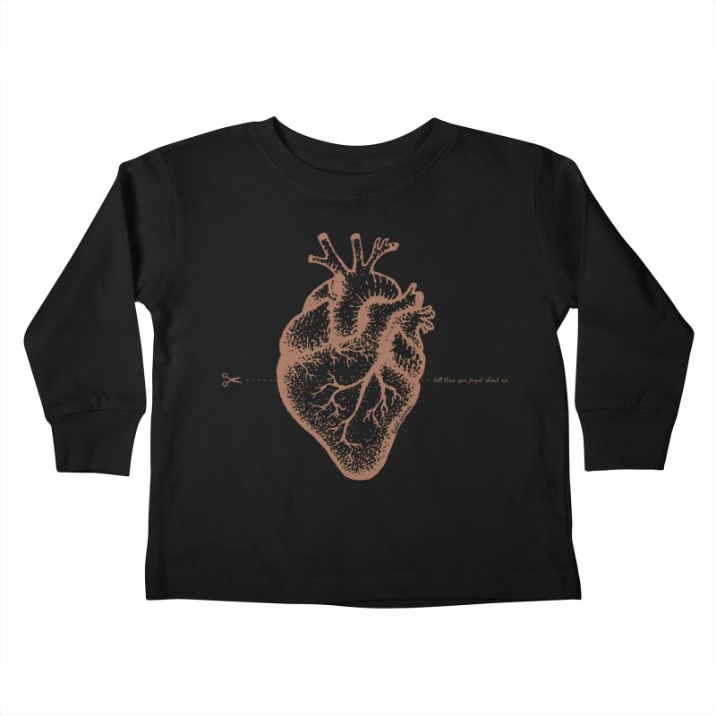 FLATLINE HEART Kids Toddler Longsleeve T-Shirt by TODD SARVIES BAND APPAREL