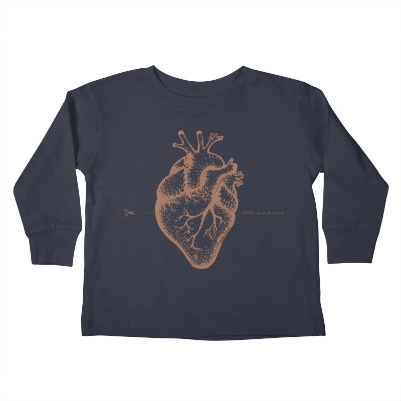 FLATLINE HEART Kids Toddler Longsleeve T-Shirt by TODD SARVIES BAND APPAREL