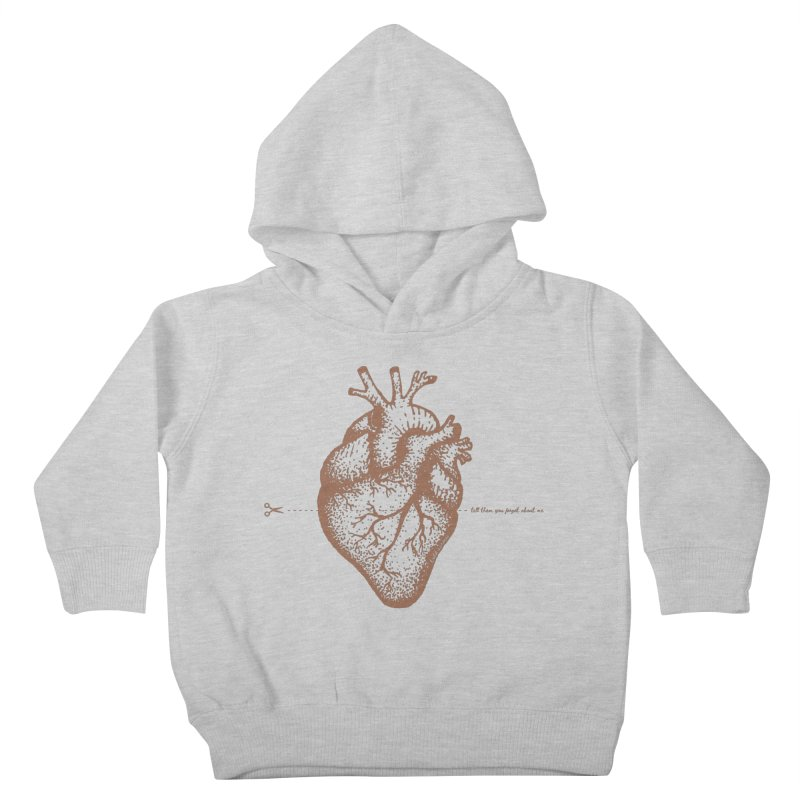 FLATLINE HEART Kids Toddler Pullover Hoody by TODD SARVIES BAND APPAREL